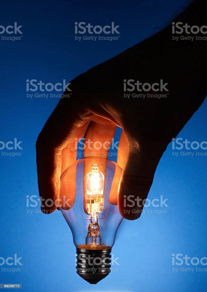 Magic Light Bulb stock photo