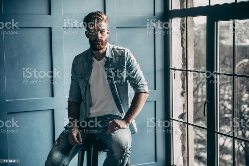 Magic look. stock photo