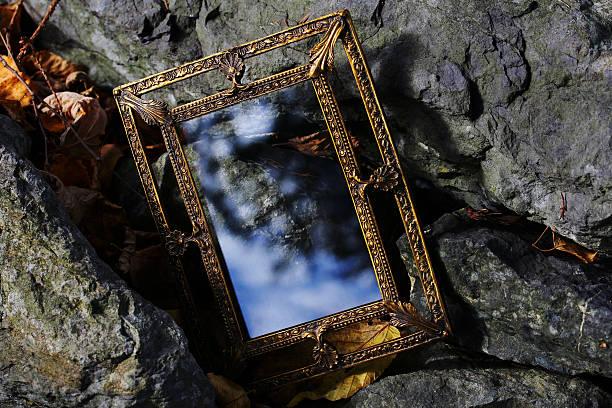 magia espejo para sueños - foto de stock