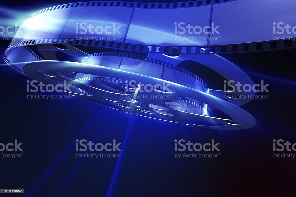 Magic movie. Abstract background stock photo