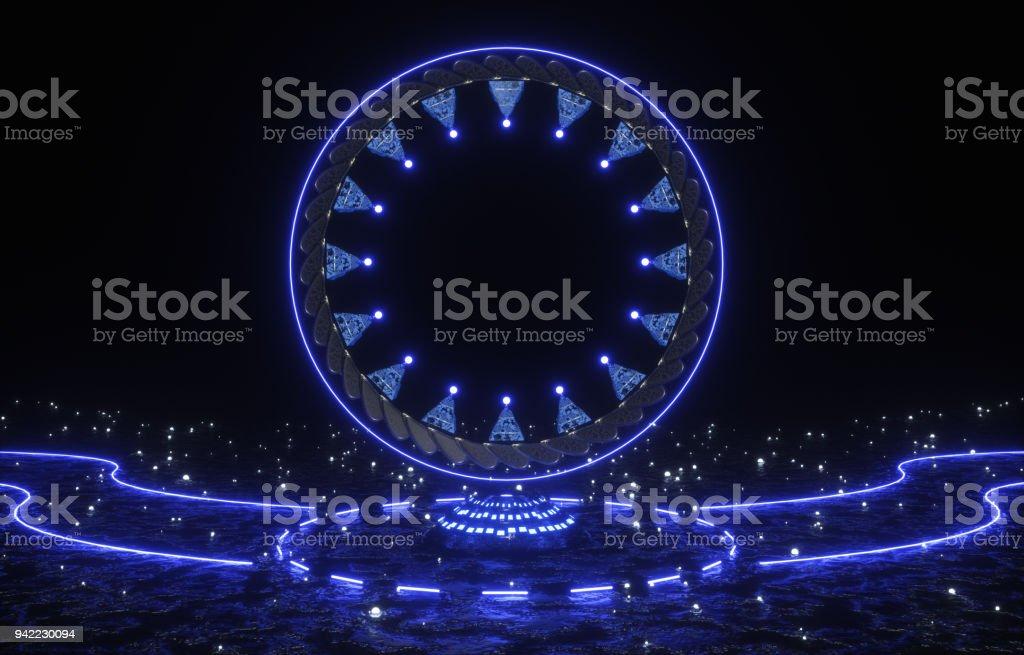 Magic portal glow stock photo