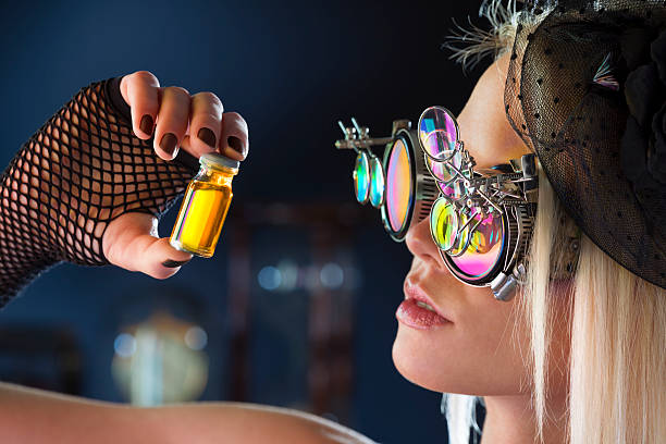 magic potion is ready - steampunk stock photos and pictures