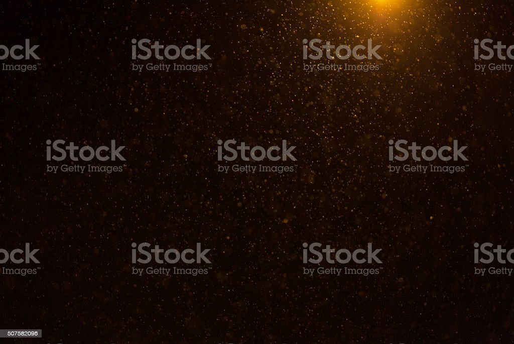 Magic powder isolated on blak background stock photo
