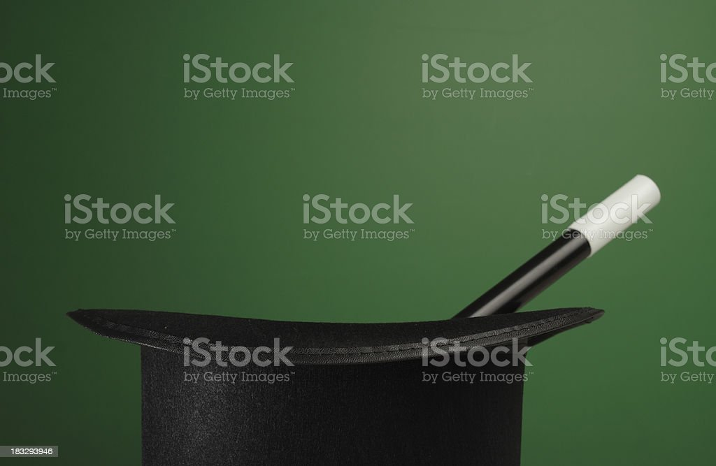Magic Props on a Green Background with Space for Copy royalty-free stock photo