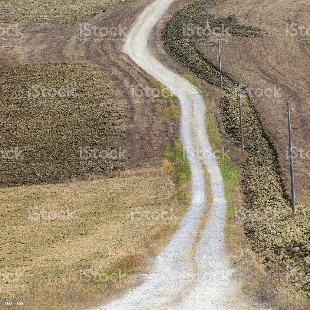 Magic road in Tuscany royalty-free stock photo