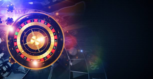 Magic Roulette Game Banner stock photo