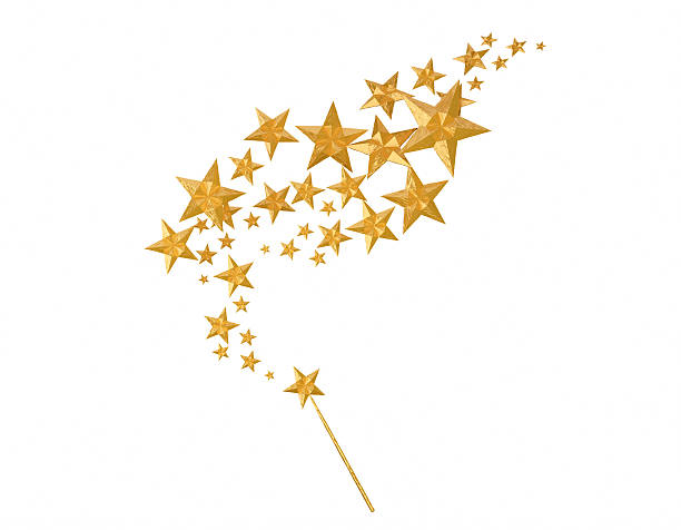 magic star - fairy wand stock photos and pictures