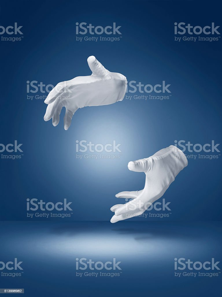 magic trick illusion hands - Stock image stock photo