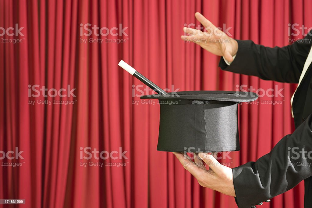 Magic trick royalty-free stock photo