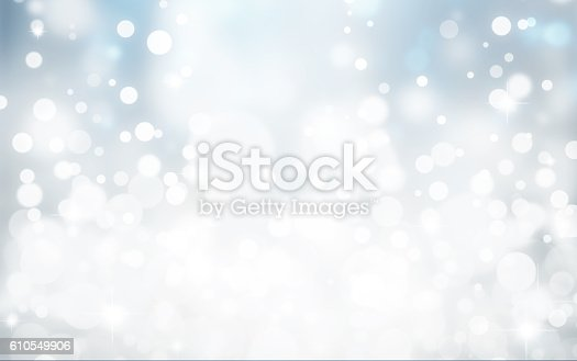istock Magic white and blue bubbles and glitters 610549906