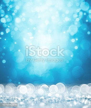 872229066 istock photo Magic white and blue glitter 1075540314