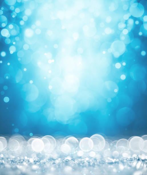 Magischen weißen und blauen Glitzer – Foto