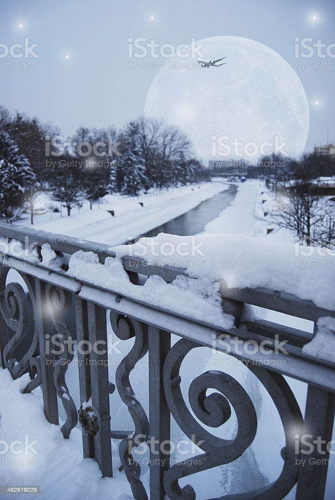 Magic winter royalty-free stock photo