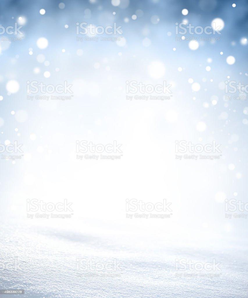 Magic winter snowstorm stock photo