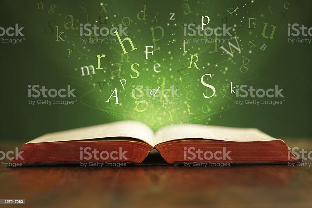 Magic words stock photo