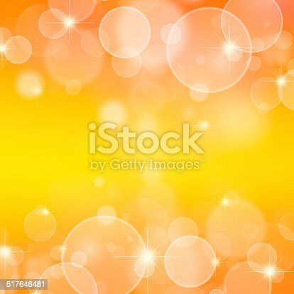 621592540 istock photo Magic yellow bubbles and glitters 517646481