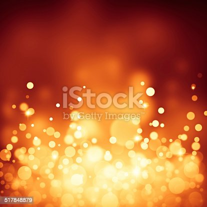 621592540 istock photo Magic yellow bubbles and glitters 517848879