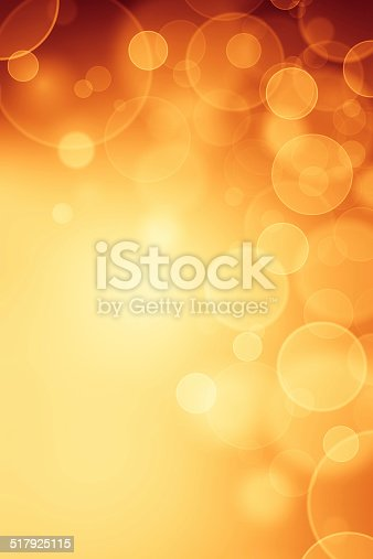 621592540 istock photo Magic yellow bubbles and glitters 517925115