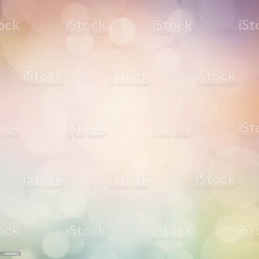 Magical background with colorful bokeh. Abstract pastel defocuse stock photo