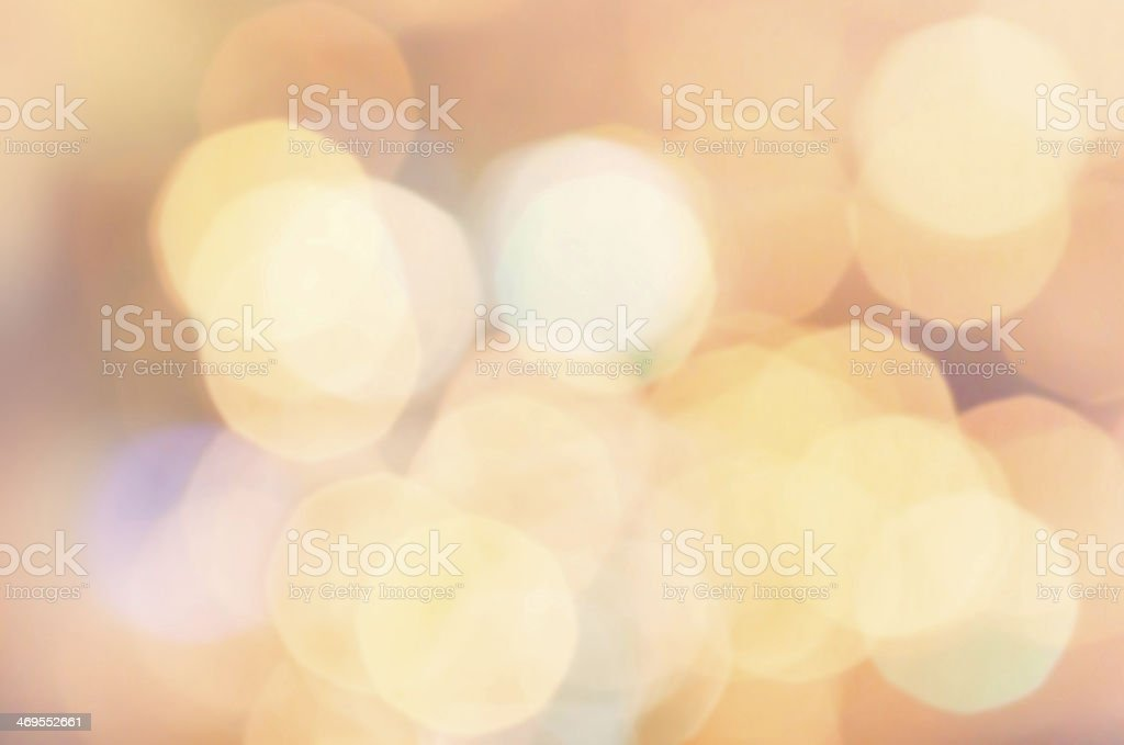 Magical background with colorful bokeh. Festive golden lights. royalty-free stock photo