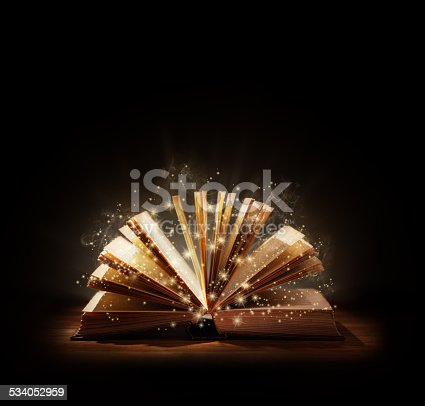 528363897istockphoto Magical book or bible 534052959