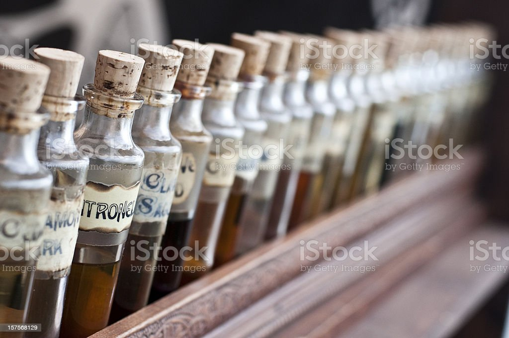Magical ingredients stock photo