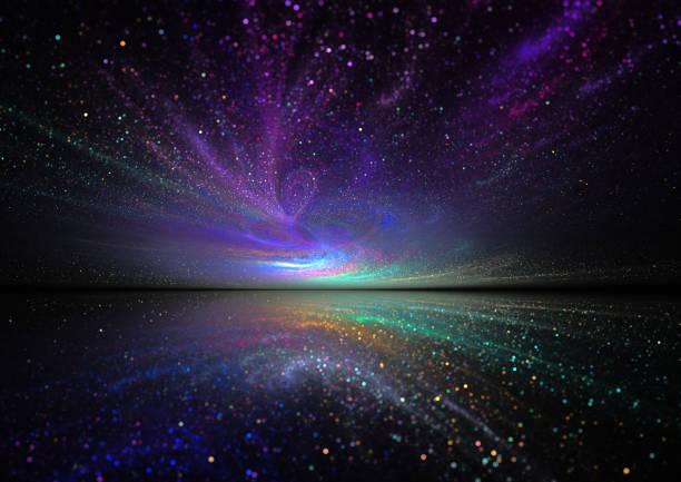 magical night sky stock photo