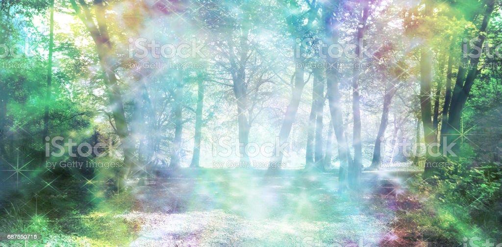 Magical Spiritual Woodland Energy stock photo