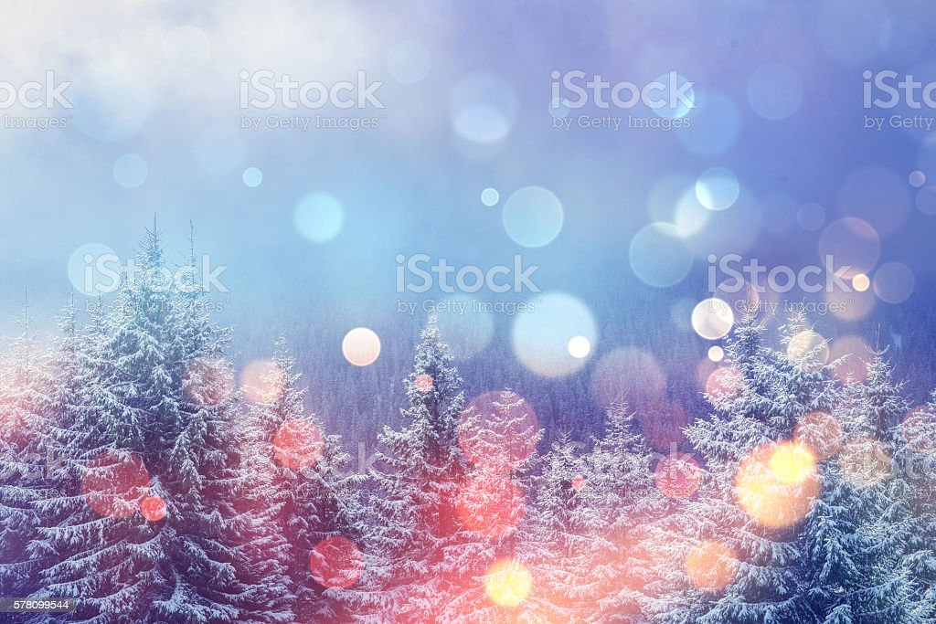 magical winter landscape, stock photo