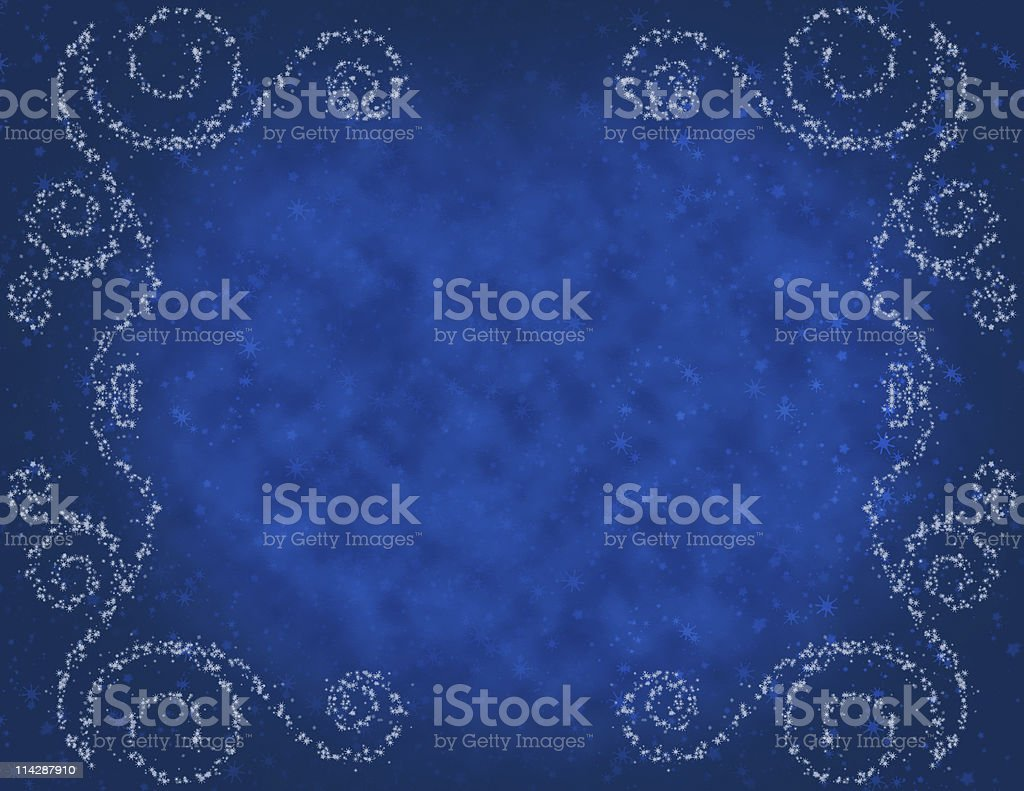 Magical Winters Night Background Copy Space royalty-free stock photo