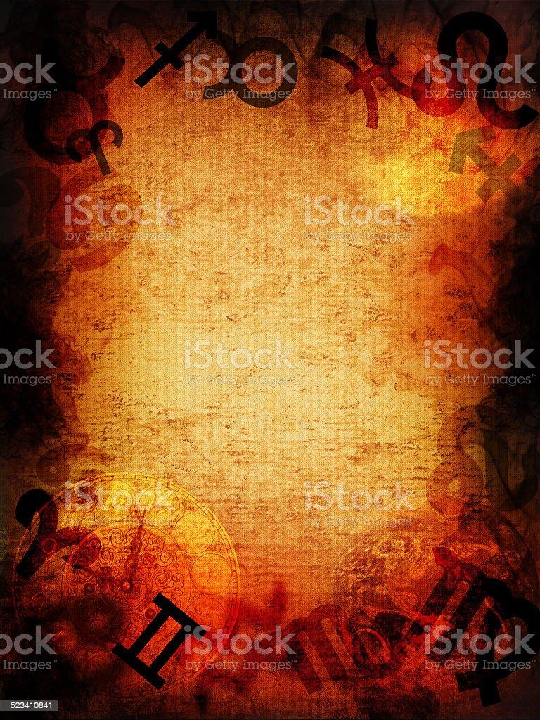 Magical zodiac background stock photo