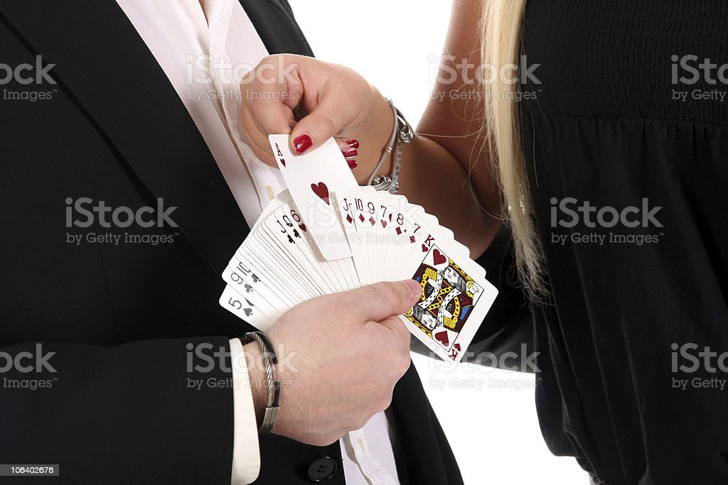 Magician make performance stock photo