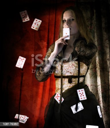 grunge picture vintage female magician