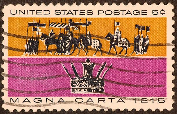 Magna Carta stamp stock photo