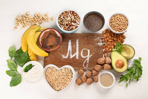 Magnesium rich foods stock photo