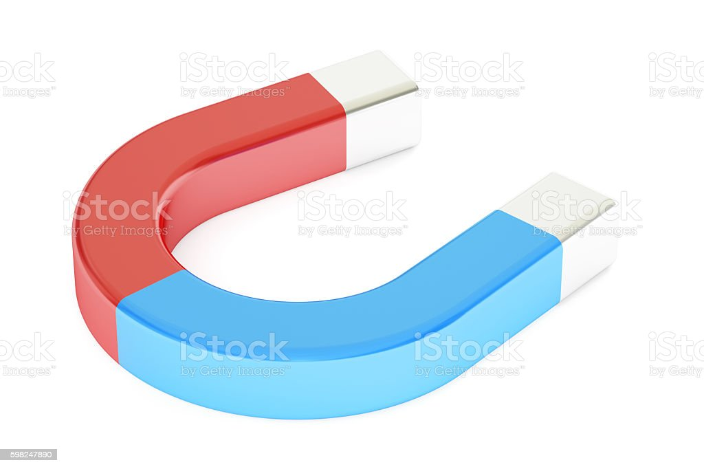 Magnet, 3D rendering stock photo