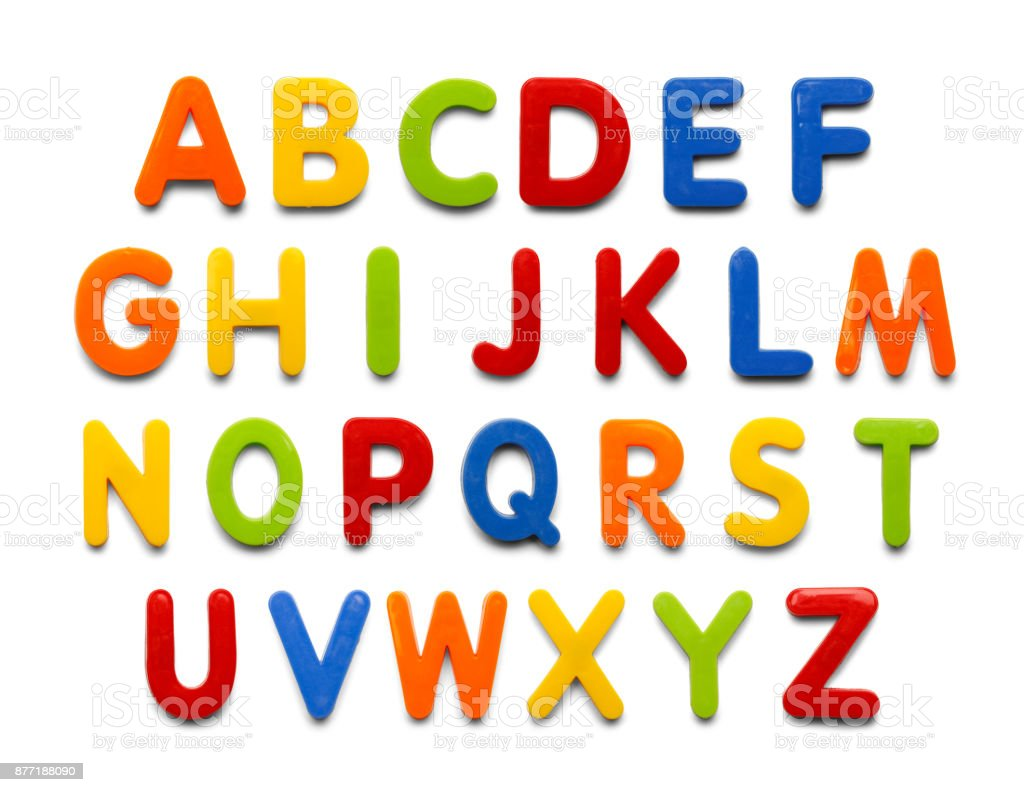 Magnet Alphabet stock photo