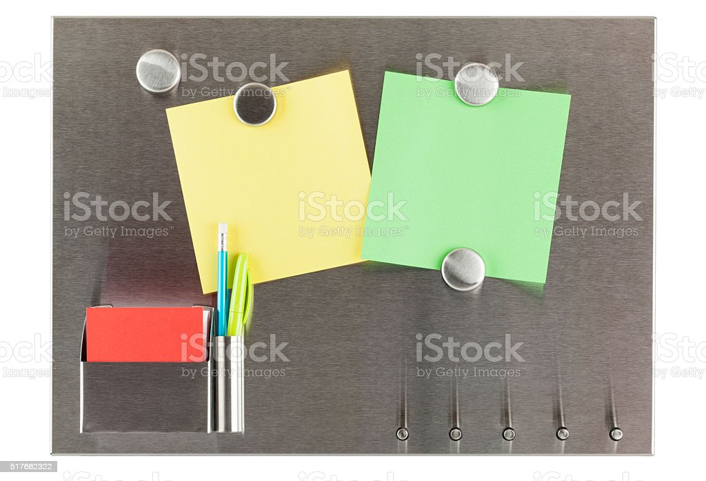 Magnet Bulletin Board Isolated stock photo