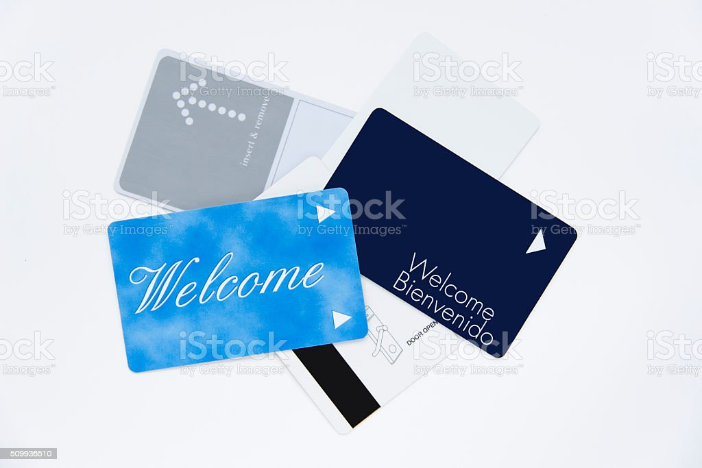 Magnet hotel keys stock photo