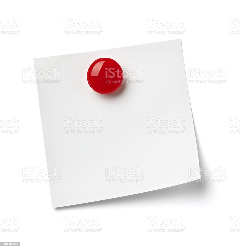 magnet refrigerator note paper stock photo