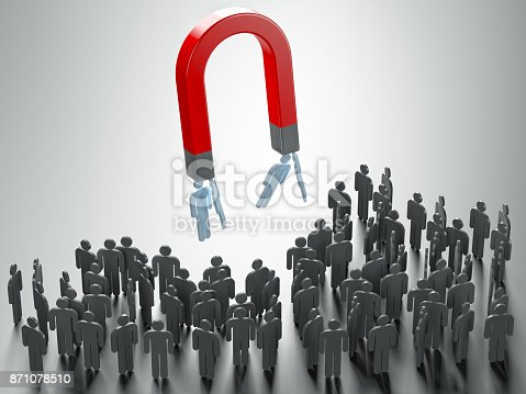 istock Magnet with people 871078510