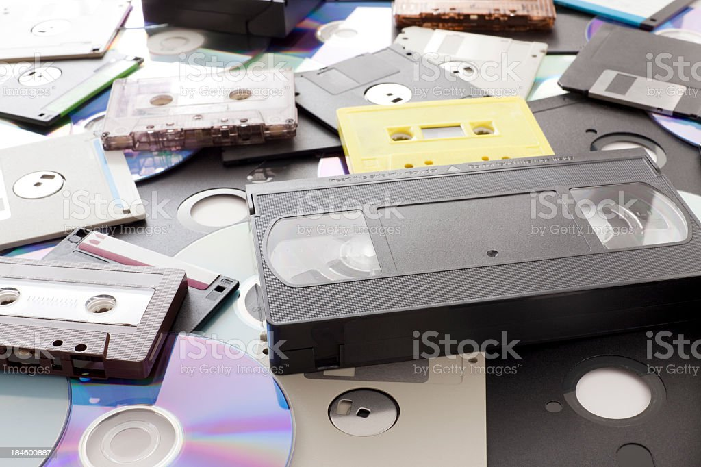Magnetic and optical media stock photo