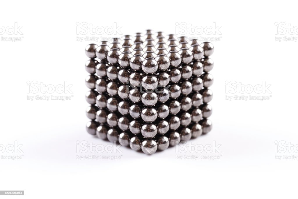 magnetic balls - cube royalty-free stock photo