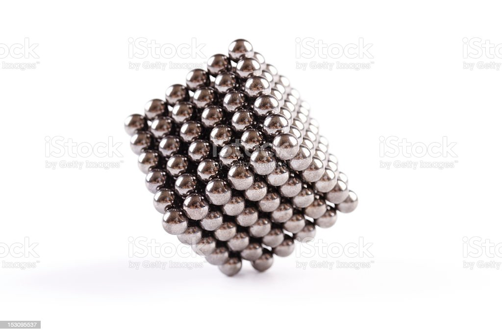 magnetic balls - cube stock photo