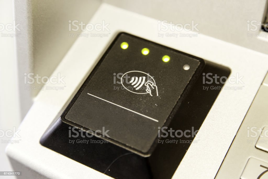 Magnetic card reader stock photo