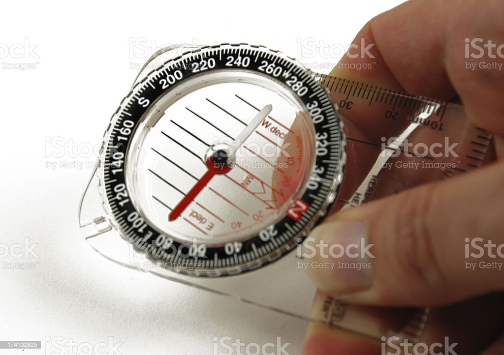 magnetic compass royalty-free stock photo