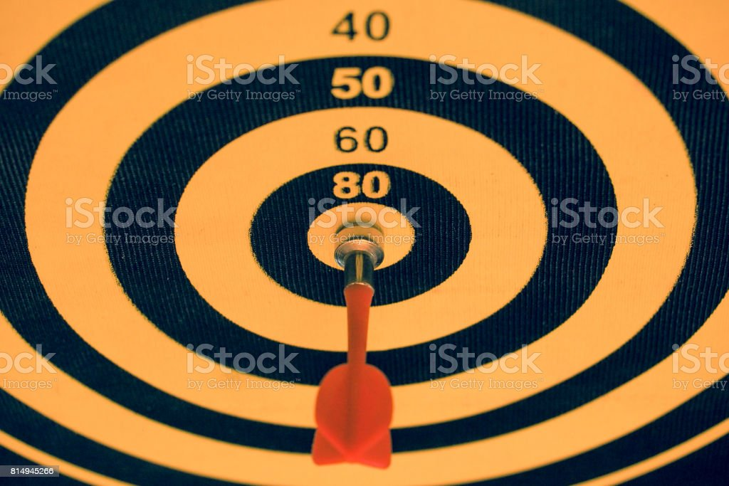 Magnetic dart game, success business, target concept
