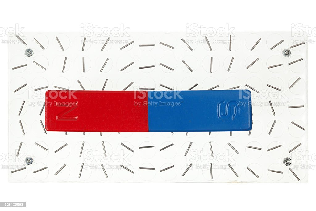Magnetic field demonstration stock photo
