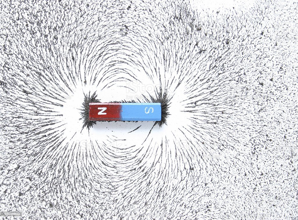 magnetic field stock photo