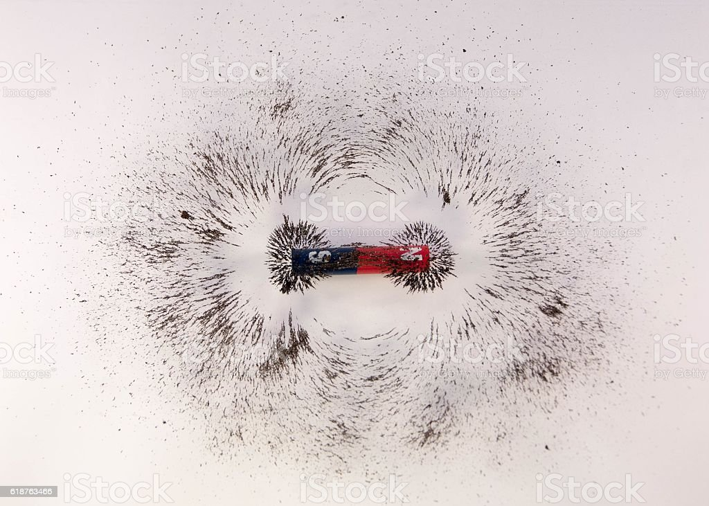 Magnetic Field. Science Magnetic Field. Physics magnetic field. stock photo